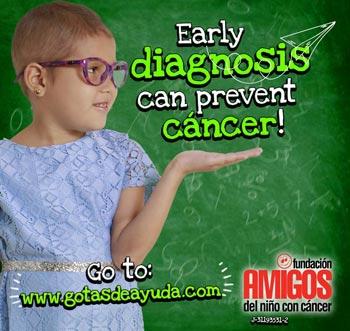 An early diagnosis can overcome cancer! Enter in: www.gotasdeayuda.com