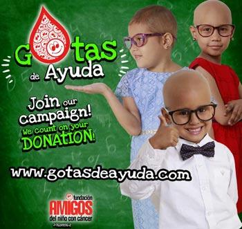 Gotas de Ayuda. Join the campaign, we count on your DONATION! www.gotasdeayuda.com